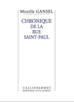 «Chronique de la rue Saint-Paul» de Mireille Gansel