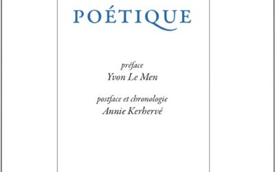 Sortie : «Œuvre poétique» de Xavier Grall